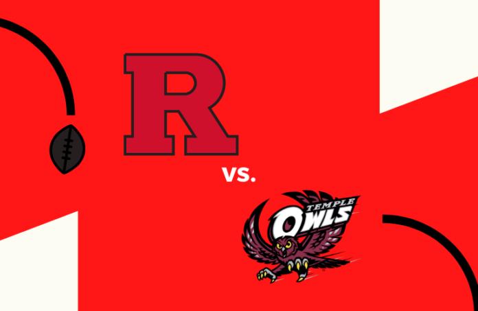 Rutgers football logo, Temple football logo